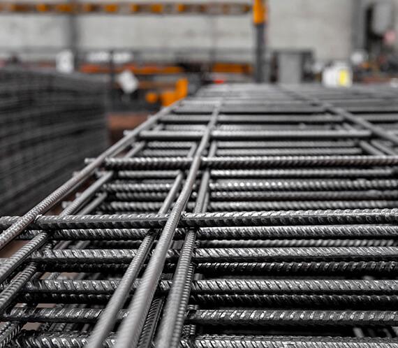 Close up of SL62 steel mesh